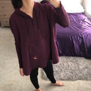 🌻Puma Evo drapery half zip maroon hoodie